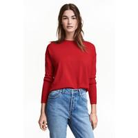 H&M Cienki sweter 0390125022 Czerwony