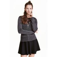 H&M Kardigan z suwakiem 0425796005 Czarny/Brokat
