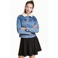 H&M Dżinsowa kurtka z podszewką 0459479001 Niebieski denim
