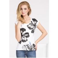 Monnari T-shirt z kwiatowym nadrukiem II TSHIMP0-16J-TSH4370-KM00D004-R0S