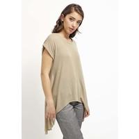 Topshop T-shirt z nadrukiem taupe/beige TP721D091