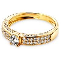 Tchibo Złoty pierścionek z cyrkoniami 400079399