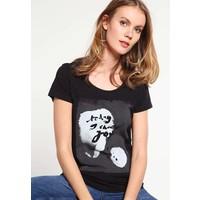 Q/S designed by T-shirt z nadrukiem black QS121D0EK