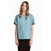 H&M Dżersejowy T-shirt 0456181001 Turkusowy