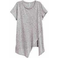 H&M T-shirt z ażurowym wzorem 0429567005 Grey