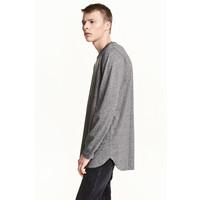 H&M T-shirt z długim rękawem 0311162003 Dark grey marl