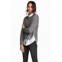 H&M Sweter 0458097004 Czarny/Biały melanż