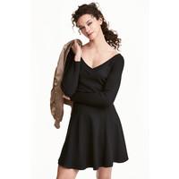 H&M Sweter z odkrytymi ramionami 0446404002 Czarny