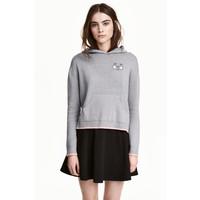 H&M Cienki sweter z kapturem 0448562003 Szary