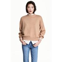 H&M Sweter 0447112002 Beżowy melanż