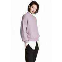 H&M Sweter 0447112004 Jasnofioletowy melanż