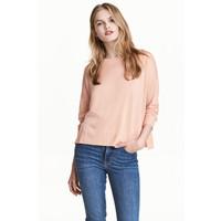 H&M Cienki sweter 0479555010 Pudroworóżowy