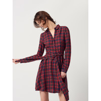 Mohito Plisowana sukienka w kratę RD909-33X