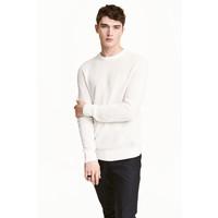 H&M Sweter w strukturalny splot 0438866002 Biały