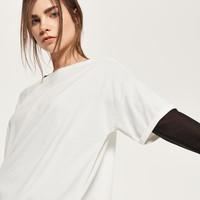 Reserved Gładka koszulka QU307-01X