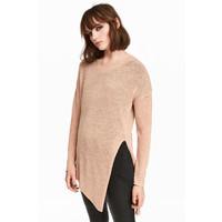 H&M Sweter o luźnym splocie 0398862008 Beżowy