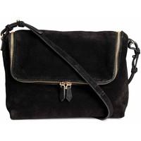 H&M Zamszowa torebka na ramię 0494025001 Czarny