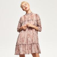 Reserved Wzorzysta sukienka RC569-MLC