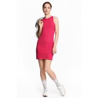 H&M Sukienka bez rękawów 0374762003 Wiśniowy