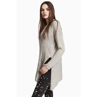 H&M Sweter o luźnym splocie 0398862002 Grey
