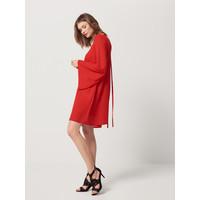 Mohito Czerwona sukienka z rozszerzanymi rękawami RZ440-33X
