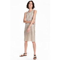 H&M Sukienka z nadrukiem 0516701001 Srebrny