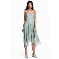 H&M Koronkowa sukienka 0487724002 Bladozielony