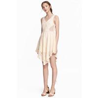 H&M Koronkowa sukienka 0530863004 Naturalna biel