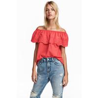 H&M Bluzka 0566142002 Czerwony