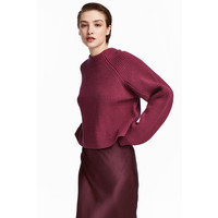 H&M Wełniany sweter 0544914005 Czerwony