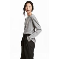 H&M Kaszmirowy sweter 0508812003 Jasnoszary