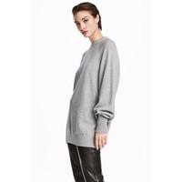 H&M Kaszmirowy sweter 0545827002 Szary melanż