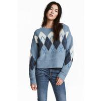H&M Sweter 0519859001 Jasnoniebieski