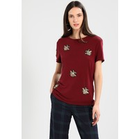 Vila VIBILLIE T-shirt z nadrukiem dark red V1021D0HO