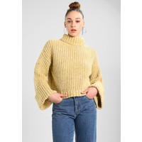 Topshop NEPPY TURNBACK FUN Sweter yellow TP721I0E0