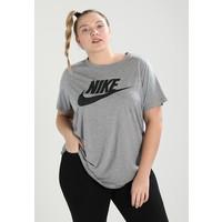 Nike Sportswear ESSENTIAL TEE T-shirt z nadrukiem carbon heather/black NI121D09F