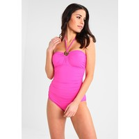 MICHAEL Michael Kors LOGO RING SHIRRED ONEPIECE Kostium kąpielowy ultra pink MK181G004