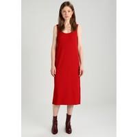 Calvin Klein Jeans DOUCE DRESS Długa sukienka tango red C1821C029