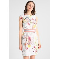 Sisley BOW DETAIL FLORAL PRINT WAISTED SHIFT DRESS Sukienka letnia white 7SI21C076