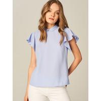 Mohito Elegancka bluzka z falbanami na ramionach UE581-05X