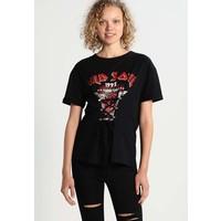 Even&Odd T-shirt z nadrukiem black EV421DAIX