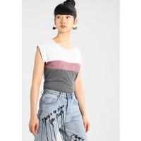 TWINTIP T-shirt z nadrukiem dark grey/red TW421DA6B