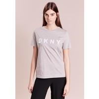 DKNY T-shirt z nadrukiem grey/white DK121D00Z