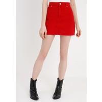 Topshop SKIRT NEW Spódnica jeansowa red TP721B0CS