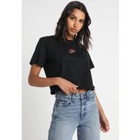 Nike Sportswear AIR CROP T-shirt z nadrukiem black NI121D0B5