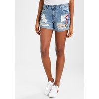 Superdry STEPH Szorty jeansowe hawaii badged blue SU221S03A