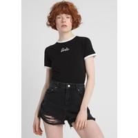 Missguided Petite BARBIE LOGO CROPPED T-shirt z nadrukiem black M0V21D02K