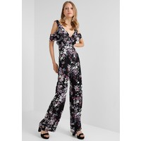 Missguided Tall FLORAL WIDE LEG Kombinezon black MIG21T005