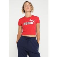 Puma TAPE LOGO CROPED T-shirt z nadrukiem ribbon red PU141D09F