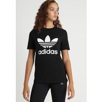 adidas Originals TREFOIL TEE T-shirt z nadrukiem black AD121D0HV